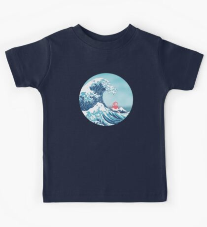 Ponyo and the great wawe (best version) Kids Tee