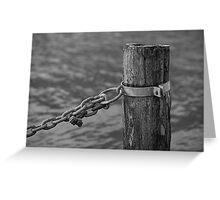docking on lake Greeting Card