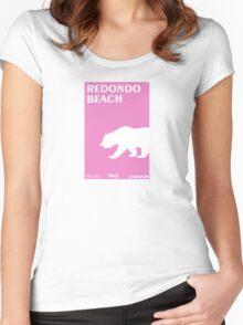 Redondo Beach - California. Women's Fitted Scoop T-Shirt