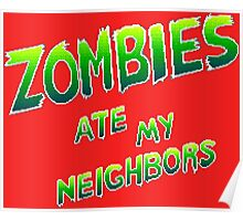 Zombies Ate My Neighbors (SNES Title Screen) Poster
