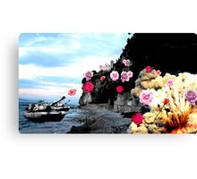Rose War Canvas Print