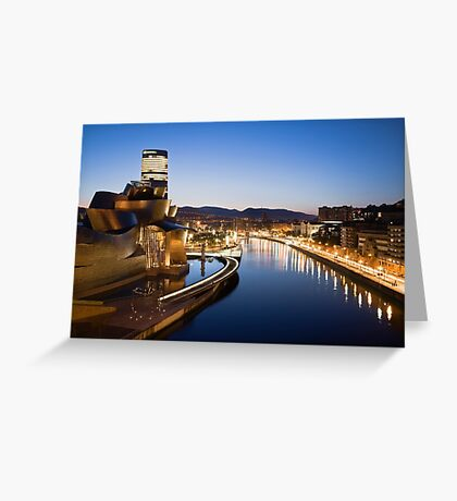 Bilbao at Night Greeting Card