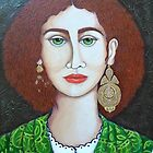 Woman with green eyes by Madalena Lobao-Tello