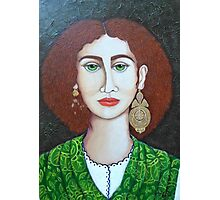 Woman with green eyes Photographic Print