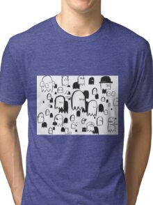 A Swarm of Ghosties Tri-blend T-Shirt