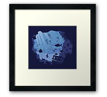Under the sea, peacefull, zen, aquatic,  Framed Print