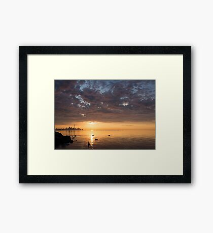 Good Morning, Toronto! Framed Print