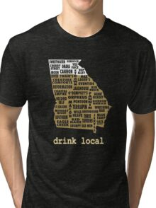 Drink Local - Georgia Beer Shirt Tri-blend T-Shirt