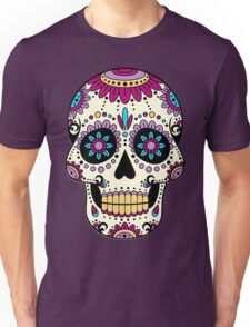 skull purple Unisex T-Shirt