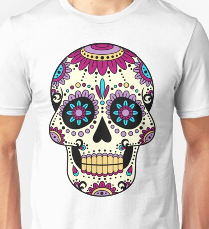 skull purple Unisex T-Shirt