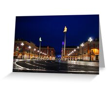 Nice, France - Place Massena Blue Hour  Greeting Card