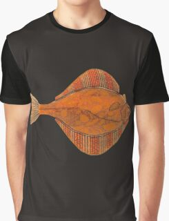 Orange Bubble Starry Flounder Graphic T-Shirt