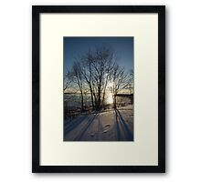 Long Shadows in the Snow Framed Print