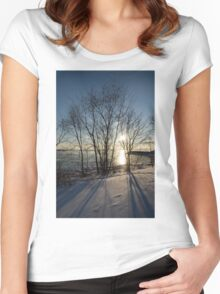 Long Shadows in the Snow Women's Fitted Scoop T-Shirt