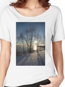 Long Shadows in the Snow Women's Relaxed Fit T-Shirt