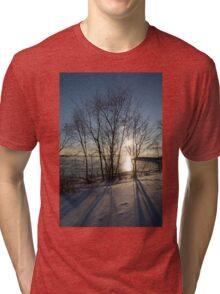 Long Shadows in the Snow Tri-blend T-Shirt
