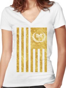 The Money Team Women's Fitted V-Neck T-Shirt