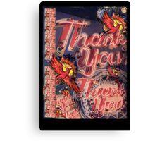 A Million Thank Us Canvas Print