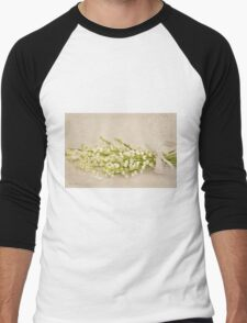 Ribboned Lily Of The Valley  Men's Baseball ¾ T-Shirt