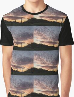 Washington National Mall Skyline and a Spectacular Sky Graphic T-Shirt