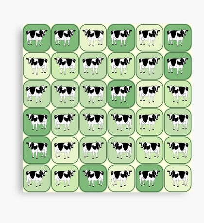 Tiled cows pattern Canvas Print