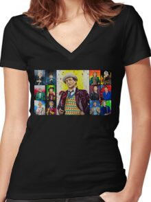 The Doctor of the Universe - The False Clown Women's Fitted V-Neck T-Shirt
