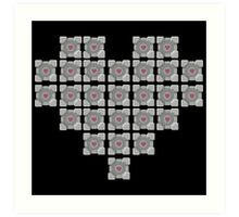 The cube is love, the cube is life -black- Art Print