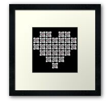 The cube is love, the cube is life -black- Framed Print