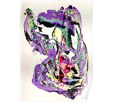 It's not worth crying over spilt milk - Original Wall Modern Abstract Art Painting Original mixed media Poster