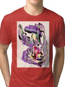 It's not worth crying over spilt milk - Original Wall Modern Abstract Art Painting Original mixed media Tri-blend T-Shirt