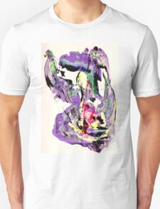 It's not worth crying over spilt milk - Original Wall Modern Abstract Art Painting Original mixed media Unisex T-Shirt