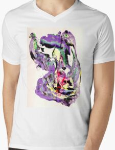 It's not worth crying over spilt milk - Original Wall Modern Abstract Art Painting Original mixed media Mens V-Neck T-Shirt
