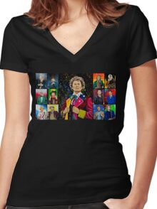 The Doctor of the Universe - The Dark Clown Women's Fitted V-Neck T-Shirt