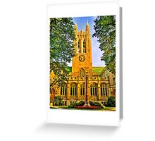 Study in Boston College Greeting Card