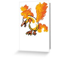 Moltres Retro Greeting Card
