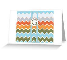 G Chevron Greeting Card