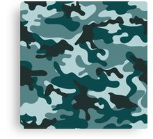 Turquoise Camouflage pattern Canvas Print