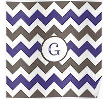 Purple Chevron G Poster