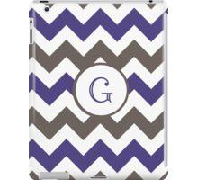Purple Chevron G iPad Case/Skin