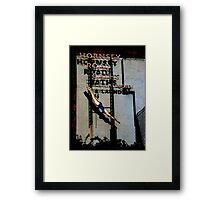 Hornsey Road Baths & Laundry neon Framed Print