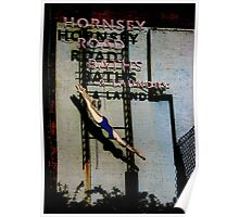 Hornsey Road Baths & Laundry neon Poster