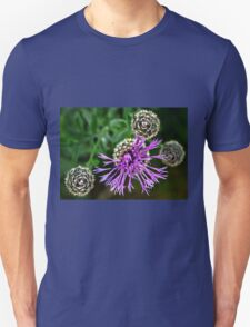 Looking Down on Thistle Flower Unisex T-Shirt