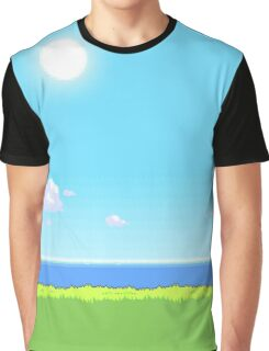 Pokemon Pixel Art 8 Bit Landscape Day Graphic T-Shirt
