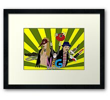 Monty And Griffin Show (Green) Framed Print