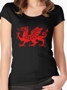 Welsh Dragon Women's Fitted Scoop T-Shirt