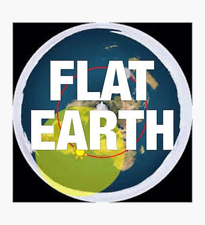 Flat earth, alternate science, Photographic Print