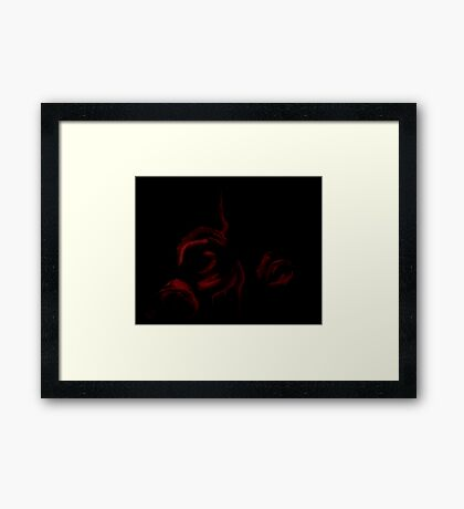 Bleeding Roses Framed Print