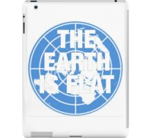The earth is flat fact iPad Case/Skin