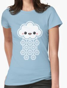 Cute Snow Cloud Womens Fitted T-Shirt