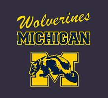 Wolverines in Maize and Blue Unisex T-Shirt